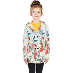 Floral Bouquet Kids  Double Breasted Button Coat by Sobalvarro