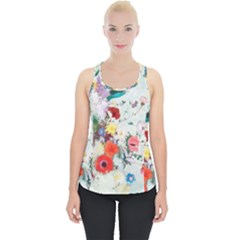 Floral Bouquet Piece Up Tank Top by Sobalvarro