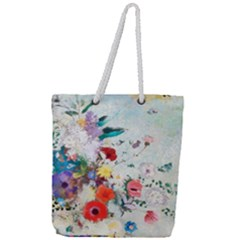 Floral Bouquet Full Print Rope Handle Tote (large) by Sobalvarro