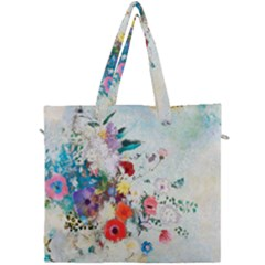 Floral Bouquet Canvas Travel Bag by Sobalvarro
