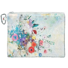 Floral Bouquet Canvas Cosmetic Bag (xxl) by Sobalvarro