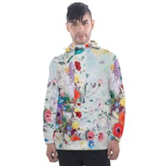 Floral Bouquet Men s Front Pocket Pullover Windbreaker by Sobalvarro
