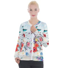 Floral Bouquet Casual Zip Up Jacket by Sobalvarro