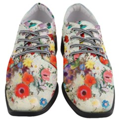 Floral Bouquet Women Heeled Oxford Shoes