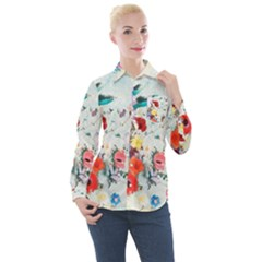 Floral Bouquet Women s Long Sleeve Pocket Shirt by Sobalvarro