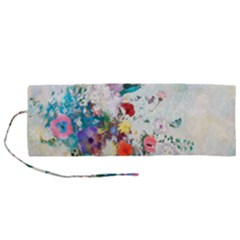 Floral Bouquet Roll Up Canvas Pencil Holder (m) by Sobalvarro