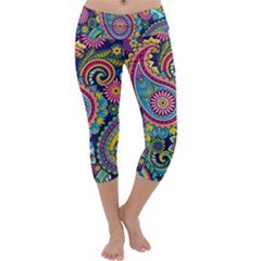 Ornament Capri Yoga Leggings by Sobalvarro