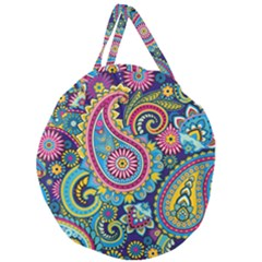 Ornament Giant Round Zipper Tote by Sobalvarro