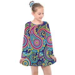 Ornament Kids  Long Sleeve Dress by Sobalvarro