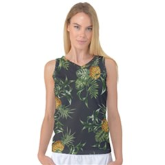 Pineapples Pattern Women s Basketball Tank Top by Sobalvarro