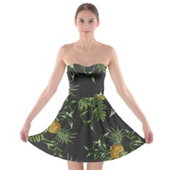 Pineapples Pattern Strapless Bra Top Dress by Sobalvarro