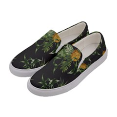 Pineapples Pattern Women s Canvas Slip Ons by Sobalvarro