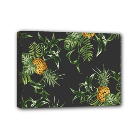 Pineapples Pattern Mini Canvas 7  X 5  (stretched) by Sobalvarro
