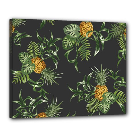 Pineapples Pattern Canvas 20  X 16  (stretched) by Sobalvarro