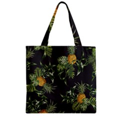 Pineapples Pattern Zipper Grocery Tote Bag by Sobalvarro