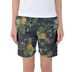 Pineapples Pattern Women s Basketball Shorts by Sobalvarro
