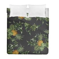 Pineapples Pattern Duvet Cover Double Side (full/ Double Size) by Sobalvarro