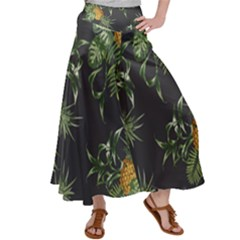 Pineapples Pattern Satin Palazzo Pants by Sobalvarro