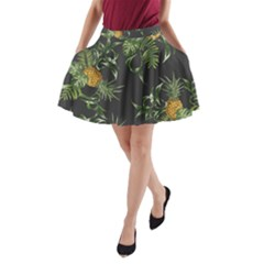 Pineapples Pattern A-line Pocket Skirt by Sobalvarro