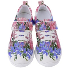 Flowers Roses Bluebells Arrangement Women s Velcro Strap Shoes by Simbadda