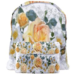 Flowers Roses White Yellow Giant Full Print Backpack