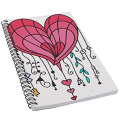 Heart Dangle Design 5 5  X 8 5  Notebook by evolutiondesignuk
