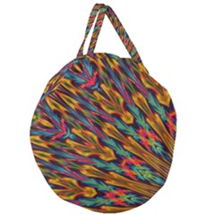 Background Abstract Texture Giant Round Zipper Tote