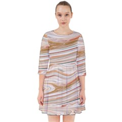 Brown And Yellow Abstract Painting Smock Dress by Simbadda