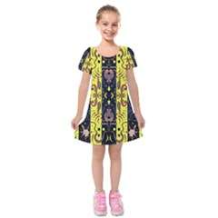 K 1 Kids  Short Sleeve Velvet Dress by ArtworkByPatrick