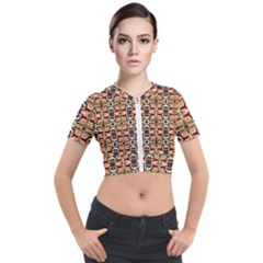 K 2 Short Sleeve Cropped Jacket by ArtworkByPatrick