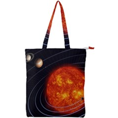 Solar System Planet Planetary System Double Zip Up Tote Bag