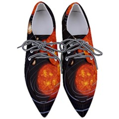 Solar System Planet Planetary System Women s Pointed Oxford Shoes