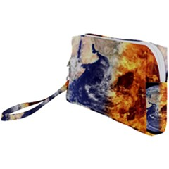 Earth World Globe Universe Space Wristlet Pouch Bag (small)