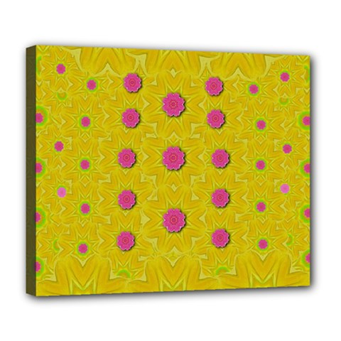 Bloom On In  The Sunshine Decorative Deluxe Canvas 24  X 20  (stretched) by pepitasart