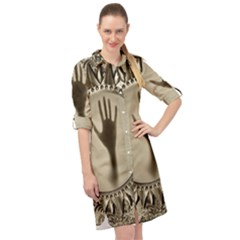 Mirror Mirror Of Souls Magic Mirror Long Sleeve Mini Shirt Dress