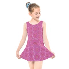 Bloom On In  The Soft Sunshine Decorative Kids  Skater Dress Swimsuit by pepitasart