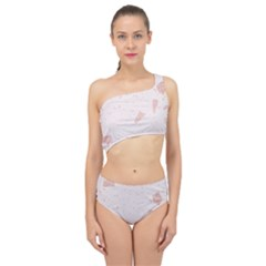 Blank Color Spliced Up Two Piece Swimsuit