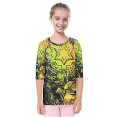 Background Star Abstract Colorful Kids  Quarter Sleeve Raglan Tee