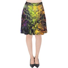 Background Star Abstract Colorful Velvet High Waist Skirt
