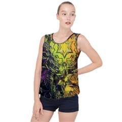 Background Star Abstract Colorful Bubble Hem Chiffon Tank Top