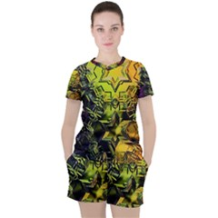 Background Star Abstract Colorful Women s Tee And Shorts Set by HermanTelo