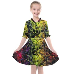 Background Star Abstract Colorful Kids  All Frills Chiffon Dress by HermanTelo