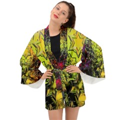 Background Star Abstract Colorful Long Sleeve Kimono