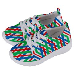 Geometric Line Rainbow Kids  Lightweight Sports Shoes by HermanTelo