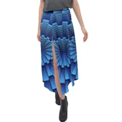 Mandala Background Texture Velour Split Maxi Skirt by HermanTelo