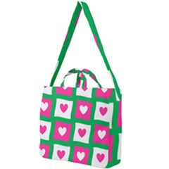 Pink Love Valentine Square Shoulder Tote Bag by Mariart