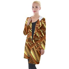 Gold Background Form Color Hooded Pocket Cardigan