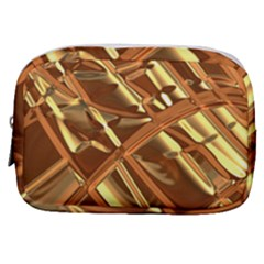 Gold Background Form Color Make Up Pouch (small) by Alisyart