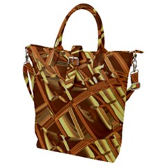Gold Background Form Color Buckle Top Tote Bag