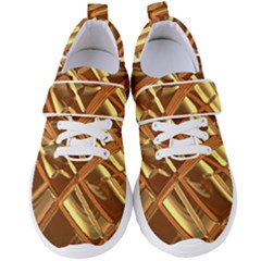 Gold Background Form Color Women s Velcro Strap Shoes